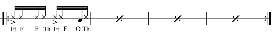 Bongo Martillo Pattern